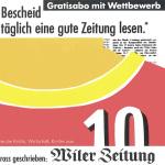 Inserat Wiler Zeitung