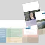 Falzprospekt mit integrierter Visitenkarte