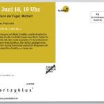 Konzertzyklus Wattwil, Programmkarte