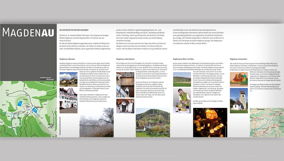 Flyer Weiler Magdenau: Gestaltung/Text analog Informationsstele beim Weiher