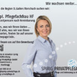 Spirig Privatpflege: Stelleninserat, April 2019